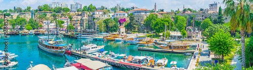 Poster Turquie In old marina of Antalya