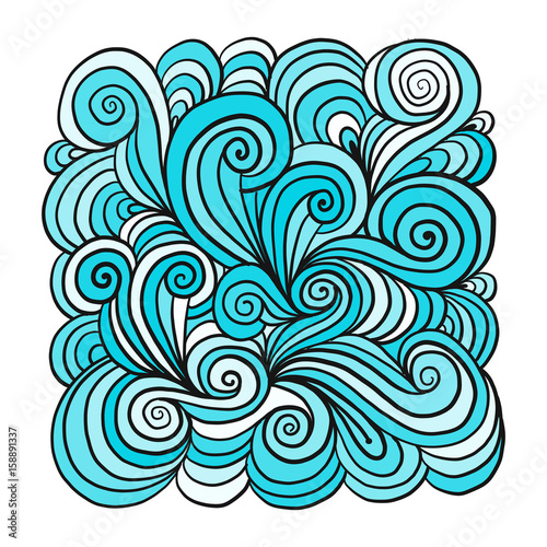 Fotomurales - Abstract hand drawn ornament, background for your design
