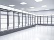 empty commercial fridges in store