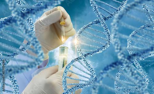 Fotografía  Testing of DNA molecules .