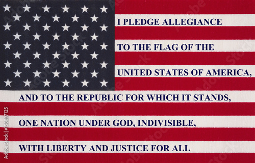 Photo The pledge of allegiance