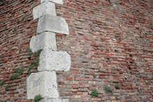 Old Fortress Brick Wall Corner...