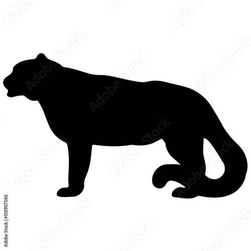 Photo  Vector silhouette of a black panther