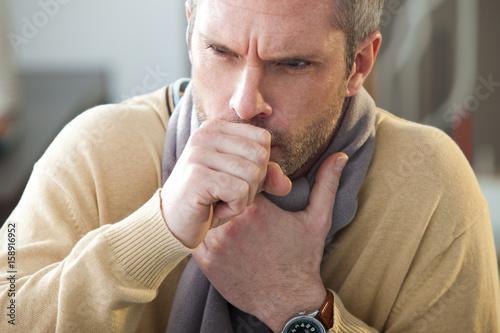 Fototapeta Man coughing