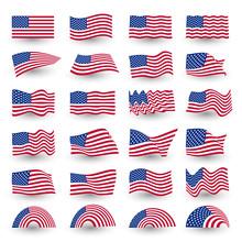 Independence Day Flag Set Of U...