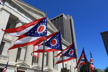State Of Ohio Flags Waving In ...