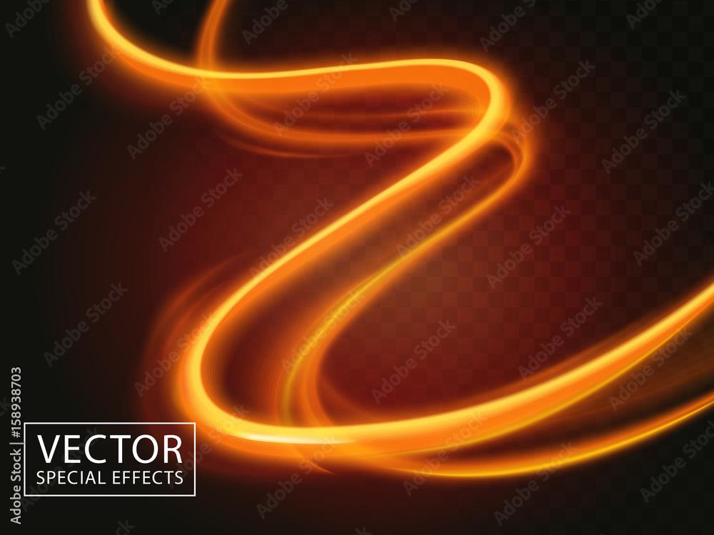 Fototapety, obrazy: light streaks effect