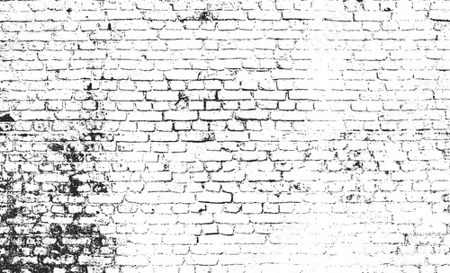 Distressed overlay texture of old brickwork