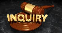 Inquiry Law Concept 3D Illustration