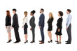 Diverse Businesspeople Standing In Row