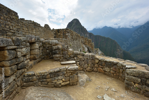 Photo  Ruins of village Machu-Picchu, Peru