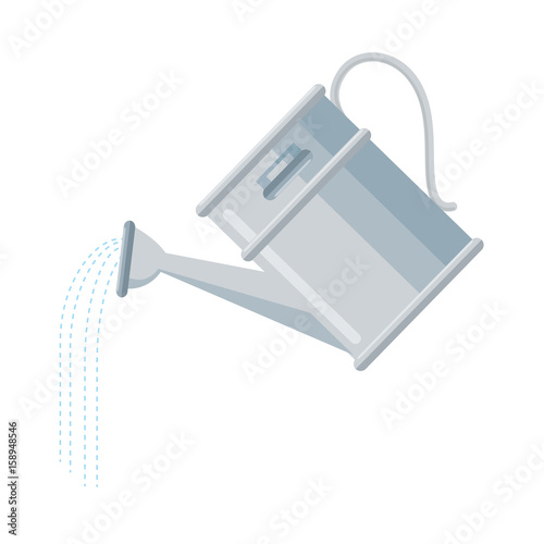Fotografie, Obraz watering can icon over white background vector illustration