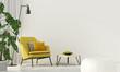 canvas print picture - Colorful interior with a yellow armchair