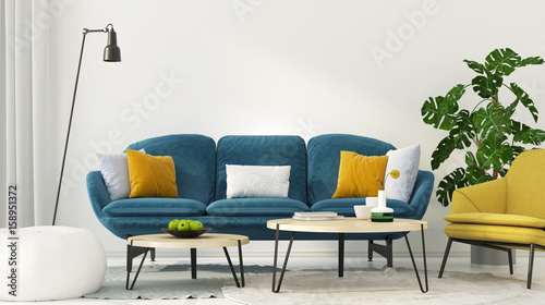 Foto  Colorful interior of living room