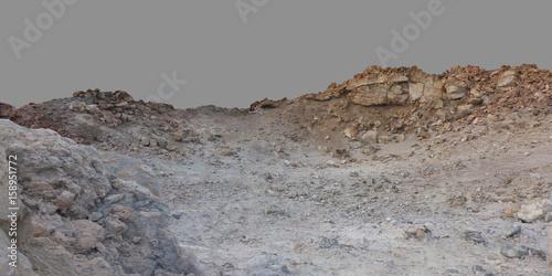 Montage in der Fensternische Grau Stone desert lifeless.