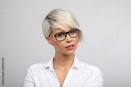 Frau Mit Brille Buy This Stock Photo And Explore Similar Images At