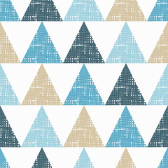FototapetaSeamless background pattern of triangles with holes. Vector illustration. Textile rapport.