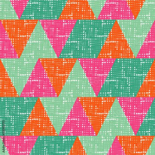 Tapeta ścienna na wymiar Kolorowy trójkątny wzór