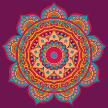 Mandala, Square Background Des...