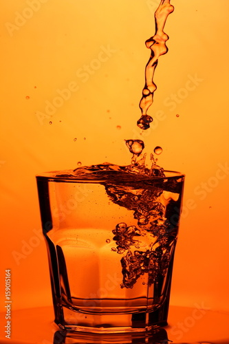 Garden Poster Splashing water Refreshing drink for you
