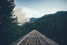 Abandoned Train Trestle In Washington