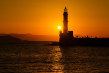 Silhouette Of Lighthouse In Se...