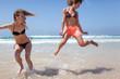 Best Friends Having Fun on the Beach Summer Holiday