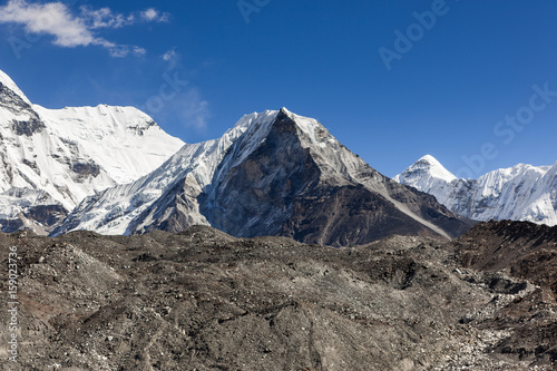 Fotografie, Obraz Island Peak or Imja Tse view on the way to Everest Base Camp in Sagarmatha National Park, Himalayas, Nepal