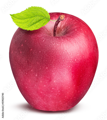 Foto op Aluminium Vruchten Red apple isolated on white background with clipping path