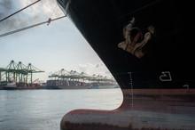 Ship Lying At Berth