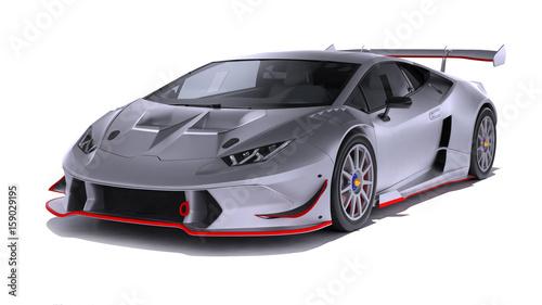 Fotografie, Obraz  Modern Sport Car isolated