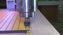 Turning On And Starting The Spindle Of The Milling Machine. Engage The CNC Engraving Machine. Engraving On Wood.