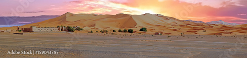 Papiers peints Maroc Panorama from the Erg Chebbi desert in Morocco at sunset