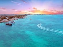 Aerial From Aruba Island In Th...