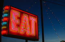 Eat Neon Sign At Night