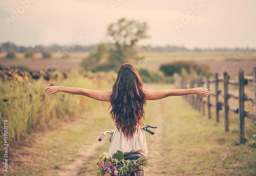 Woman Enjoying Summer in Nature