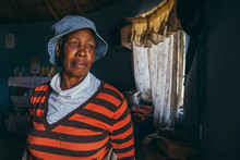 Portrait Of A Basotho Woman In Her Home