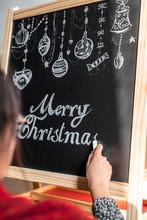 Merry Christmas Written On A Chalkboard