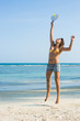 Woman Playing Beach Tennis