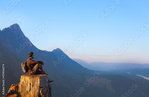 Fotobehang School de yoga Mountain view in Laos, from Nong Khiaw village viewpoint
