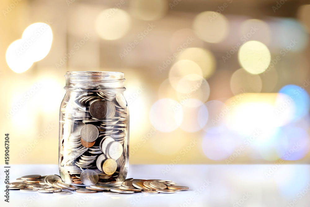 Fototapety, obrazy: Donation Jar with Copy Space. Fundraiser, Charity and Relief Work.