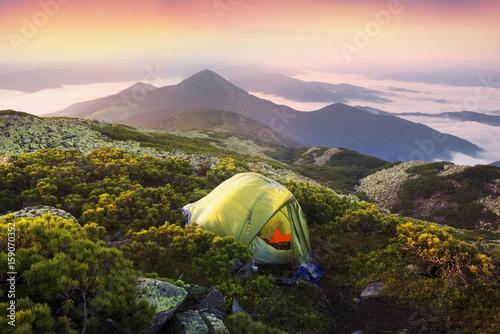 Photo Gentle misty mountains