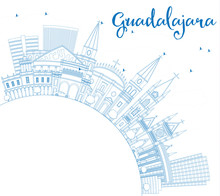 Outline Guadalajara Skyline Wi...