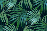Wektor liści palmowych. Tropikalny wzór liści. Bananowy liścia tło. Egzotyczny projekt odizolowywający. Druk hawajski. Rośliny dżungli. Ilustracja lato. - 159073707