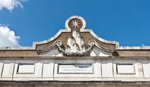 Porta Del Popolo In Rome. Italy