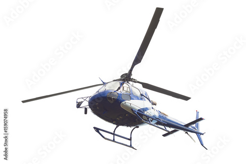 Keuken foto achterwand Helicopter helicopter isolated on white background