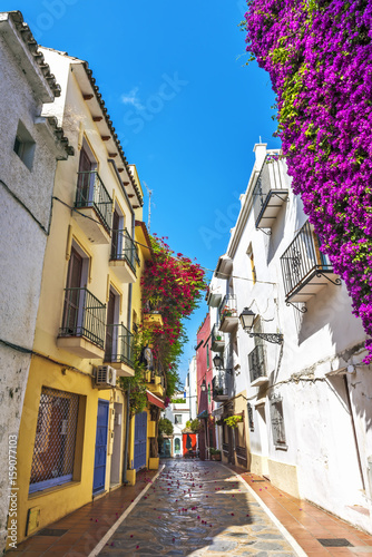 Plakat Typical old town street in Marbella