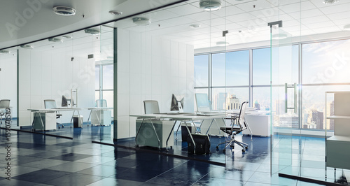 Fotografie, Obraz  3d modern office interior render