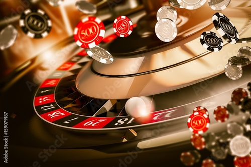 фотография  Roulette Spin Chips Blow