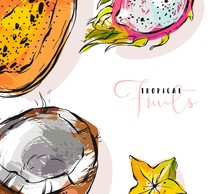 Hand Drawn Vector Abstract Fre...